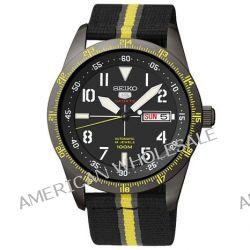 Seiko Herren-Armbanduhr XL Seiko 5 Sports Analog Automatik Textil SRP523K1