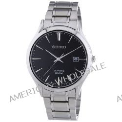 Seiko Herren-Armbanduhr XL Sapphire Analog Quarz Edelstahl SGEG95P1