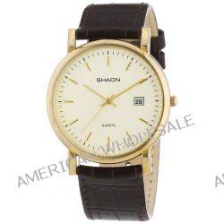 Shaon Herren-Armbanduhr XL Analog Quarz Leder 53-6012-23