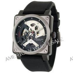 Stuhrling Original Herrenuhr Freizeit Raven Diablo Automatic Skeleton schwarz Rubber Strap Uhr - 179A.331613
