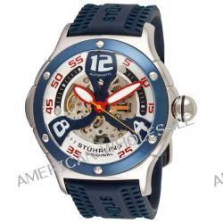 Stuhrling Original Herren 4ATXL.332U6C6 Champion Alpine Extreme Automatic Skeleton Blue Rubber Strap Uhr
