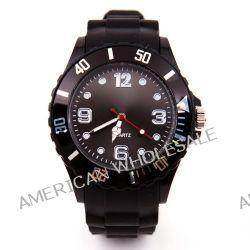 Silikon Uhr XL Schwarz Trend Watch Big Face Style Sport Herrenuhr Damenuhr HOT