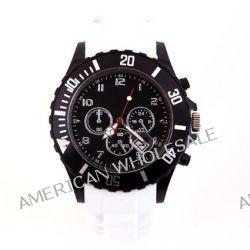 Silikon Uhr Chronopragh Weiss Trend Watch Style Sport Herrenuhr Damenuhr HOT