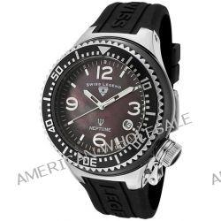 Swiss Legend Herren-Armbanduhr Analog Silikon Schwarz SL00020/38