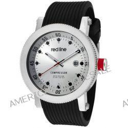 red line Herren RL-18000-01 Compressor Silver Dial Black Silicone Uhr
