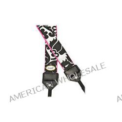 Mod Black & Pink Damask Camera Strap Black and White MOD272