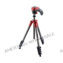 Manfrotto Compact Action Aluminum Tripod (Red) MKCOMPACTACN-RD