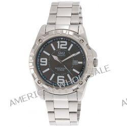 Q&Q Herren-Armbanduhr XL MONTE CARLO II Analog Quarz Edelstahl A448J205Y