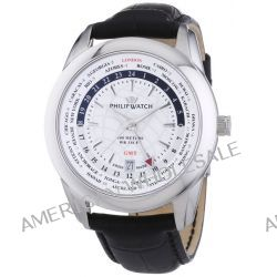 Philip Watch Herren-Armbanduhr XL Analog Quarz Leder R8251196003