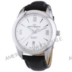 Philip Watch Herren-Armbanduhr XL Analog Quarz Leder R8251196002
