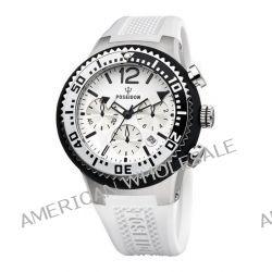 Poseidon Herren-Armbanduhr XL POSEIDON L Chrono Analog Quarz Silikon P-00458