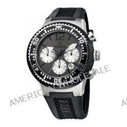 Poseidon Herren-Armbanduhr XL POSEIDON L Chrono Analog Quarz Silikon P-00457