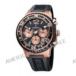Poseidon Herren-Armbanduhr XL POSEIDON L Chrono Analog Quarz Silikon P-00455