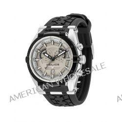 Police Herren-Armbanduhr XL ROAD RACE Chronograph Quarz Silikon P14215JSTB-13