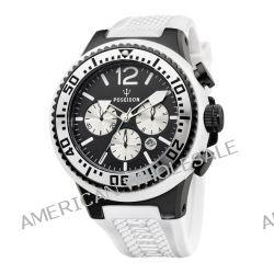 Poseidon Herren-Armbanduhr XL POSEIDON XL Chrono Analog Quarz Silikon P-00452