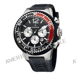 Poseidon Herren-Armbanduhr XL POSEIDON XL Chrono Analog Quarz Silikon P-00453