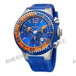 Poseidon Herren-Armbanduhr XL POSEIDON XL Chrono Analog Quarz Silikon P-00450