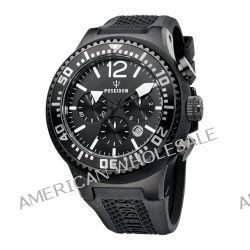 Poseidon Herren-Armbanduhr XL POSEIDON XL Chrono Analog Quarz Silikon P-00451
