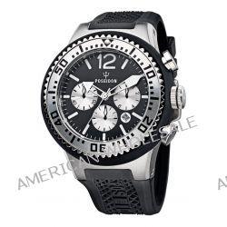 Poseidon Herren-Armbanduhr XL POSEIDON XL Chrono Analog Quarz Silikon P-00449