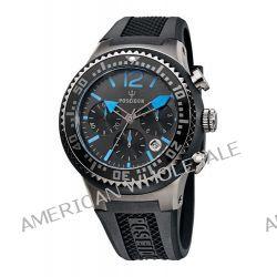 Poseidon Herren-Armbanduhr XL POSEIDON L Chrono Analog Quarz Silikon P-00459