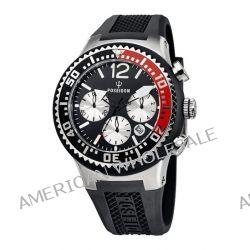 Poseidon Herren-Armbanduhr XL POSEIDON L Chrono Analog Quarz Silikon P-00460