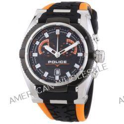 Police Herren-Armbanduhr XL ROAD RACE Chronograph Quarz Silikon P14215JSTB-02A