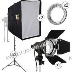 Impact Qualite 300 Focusing Flood 2 Light Soft Kit QL300-2KII