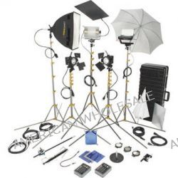 Lowel  DV Pro 55 Kit, TO84Z Case DVP-95 B&H Photo Video