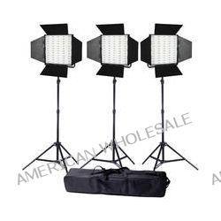 Ledgo Pro Series LED Bi-Color Panel 600 3-Light Kit LG600CS3 B&H