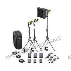 Dedolight DLED4.1-D Daylight LED 3-Light Battery Kit SLED3-D-BAT
