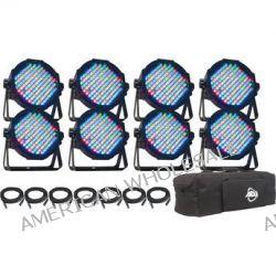 American DJ Mega Flat Pak 8 LED Fixture Pack MEGA FLAT PAK 8 B&H