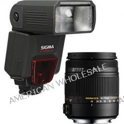 Sigma 18-250mm f/3.5-6.3 DC Macro OS HSM Lens and EF610 DG ST