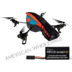 Parrot AR.Drone 2.0 Quadcopter (Blue/Orange) & Battery Kit