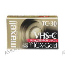 Maxell HGX-Gold TC30 VHS-C Premium High Grade Video 203010 B&H