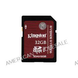 Kingston 32GB UHS-1 SDHC Memory Card (Class-10) SDA3/32GB B&H