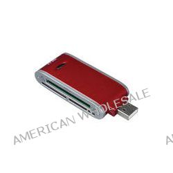 Vivitar 50-in-1 Memory Card Reader / Writer (Red)