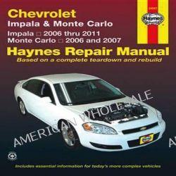 Chevrolet Impala & Monte Carto, Impala 2006 Thru 2011; Monte Carlo 2006 and 2007 by John Haynes, 9781563929670.