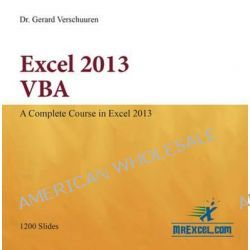 Excel 2013 VBA by Gerard M. Verschuuren, 9781615470310.