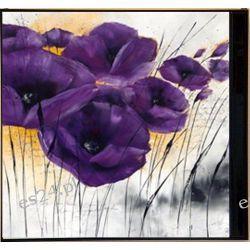 nowoczesny obraz, motyw kwiatowy, maki, IG 3996