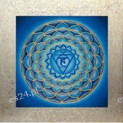 Mandala czakry gardła, nowoczesny obraz, ezoteryka,