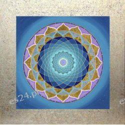 Mandala czakry korony, nowoczesny obraz, ezoteryka,