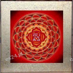 Mandala czakry podstawy, nowoczesny obraz, ezoteryka,