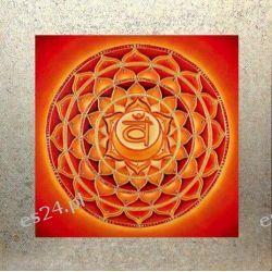 Mandala czakry sakralnej, nowoczesny obraz, ezoteryka,