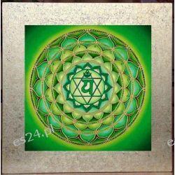 Mandala czakry serca, nowoczesny obraz, ezoteryka,
