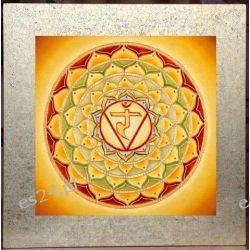 Mandala czakry splotu słonecznego, nowoczesny obraz, ezoteryka,
