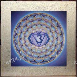 Mandala czakry trzeciego oka, nowoczesny obraz, ezoteryka,