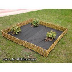 płotek ogrodowy ścianka z wikliny 115x30 / 10 szt.