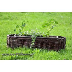 donica ogrodowa osłonka na kwiaty z wikliny 80cm