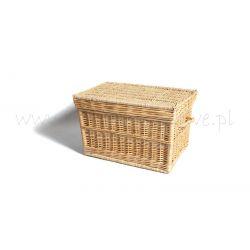 Kufer z wikliny duży piracki 40x38x60 cm wiklinowy