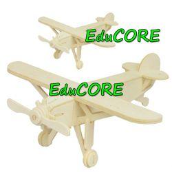SAMOLOT LOUIS puzzle drewniane 3D  EduCORE